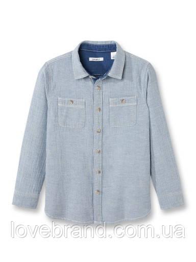 """Рубашка для мальчика """"Джинсовая"""" премиум качества Okaidi (Франция)"""