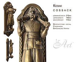Латунная дверная ручка Козак