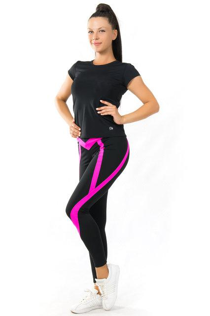 Женская одежда для спорта (42-44; 44-46; 48-50) (розовый) одежда для йоги и фитнеса из бифлекса