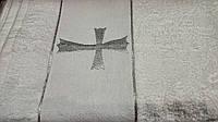 Махровое полотенце для крещения. Махровая крыжма. Крыжма махра.