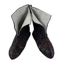 Сапоги резиновые VR женские ПВХ утепленные Грибник черные, фото 3