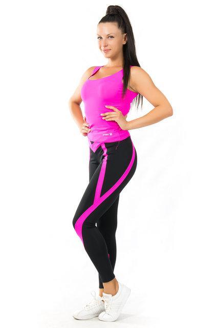 Женская одежда для спорта (42-44; 44-46; 46-48) (розовый) одежда для йоги и фитнеса из бифлекса