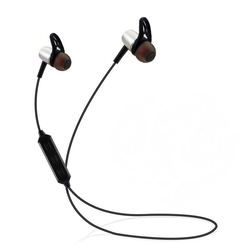 Беспроводные Bluetooth наушники Noisy Magnetic Серые (hub_TtYF345121)