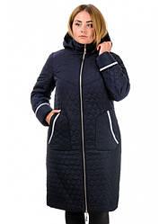 Женское зимнее пальто полуприталенного силуэта  Разные цвета