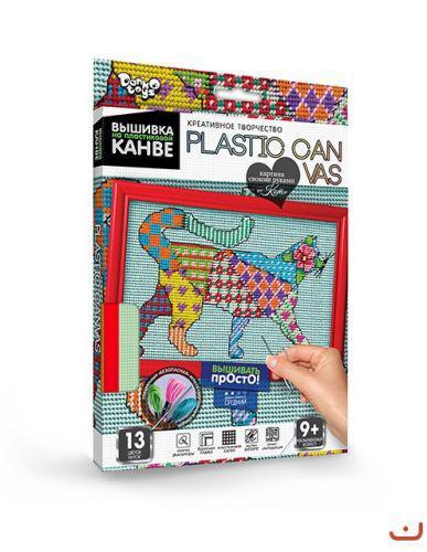 """Вышивка на пластиковой канве """"PLASTIC CANVAS: Кот"""""""