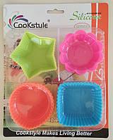 Набор силиконовых форм для выпечки кексов SC 45-12 арт. 822-6-12