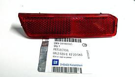 Светоотражатель заднего бампера левый GM 6223043 93180081 13106911 OPEL VECTRA-C ESTATE F35 (универсал)