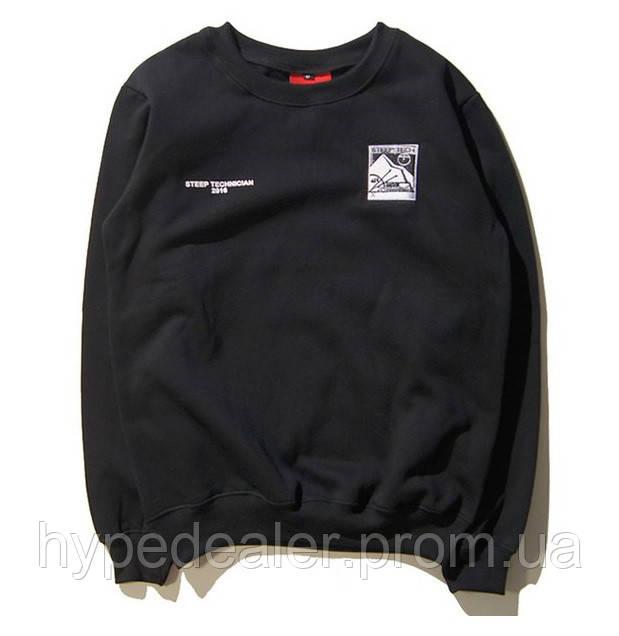 079a8f1ee42a Свитшот Supreme x The North Face Steep Tech Crewneck черный, универсальный  (мужской, женский, детский)