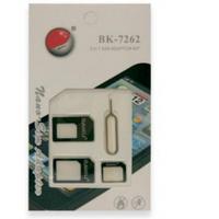 Переходник для SIM карт BAKKU BK-7262 3 в 1, micro-nano, micro-sim, nano-sim, Green