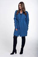 Кардиган женский вязаный голубой., фото 1