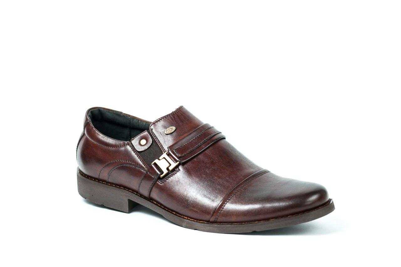Остання пара - 45 розмір! Туфлі коричневі Pan, взуття для справжніх чоловіків