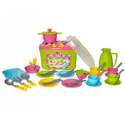 """Набор игрушечной посуды с плитой """"ТехноК"""""""