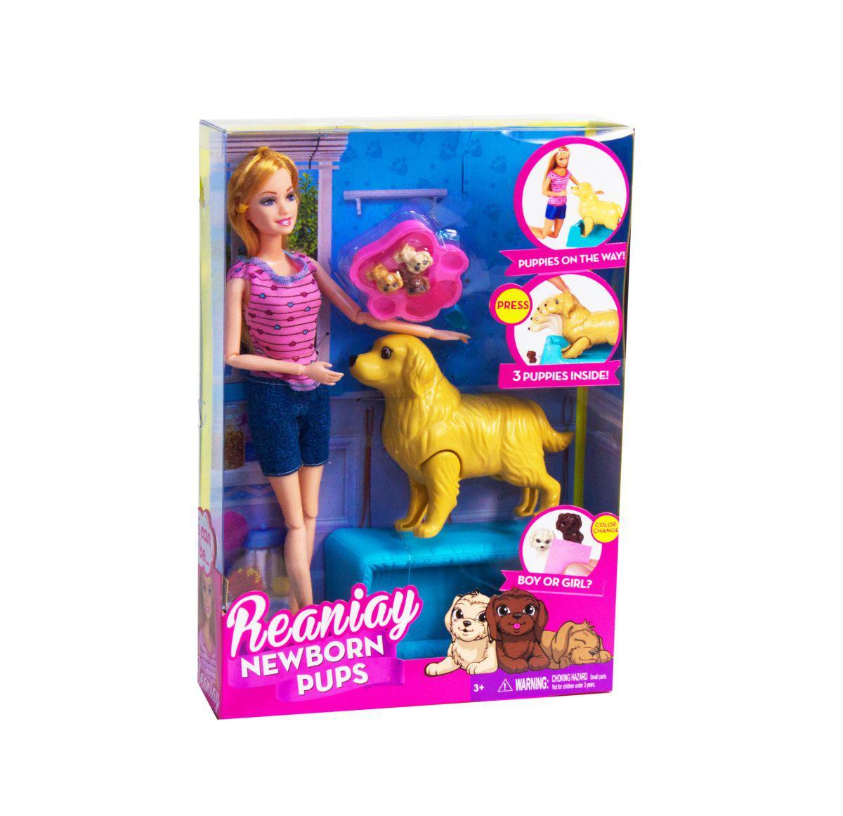 """Кукла Барби с беременной собакой """"Newborn Pups"""""""