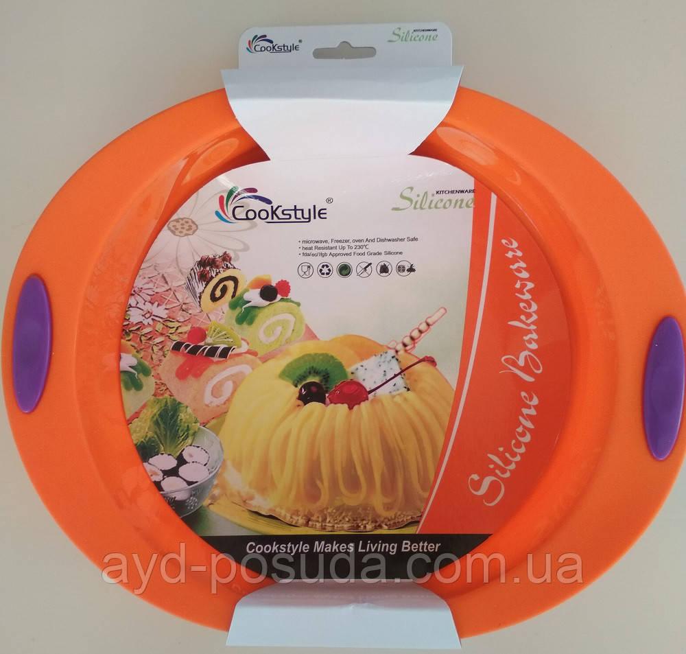 Силиконовая форма для выпечки пирогов, тортов и пиццы круглая SC-1509 арт. 822-6-5