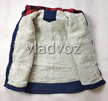 Детская джинсовая парка для девочки тёплая подкладка New York 9-10 лет, фото 3