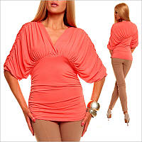 Женская кофта кораллового цвета, одежда по оптовым ценам