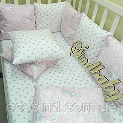 Комплект в детскую кроватку «Мамина зайка» (с простынкой)