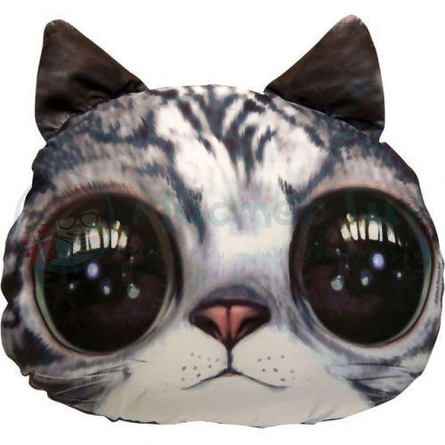 """Антистрессовая игрушка """"Soft Toys - Серый кот с чёрными глазами"""""""