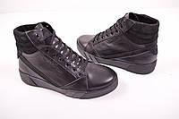 Ботинки мужские зимние (цв.черный) из натуральной кожи Visazh Размеры в наличии : 39,40,44,45 арт.617