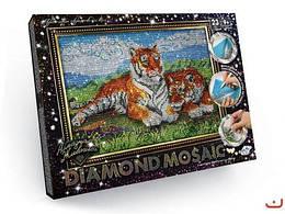 "Алмазная живопись ""Diamond mosaic"", ""Тигры"""