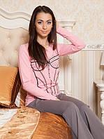 Пижама женская со штанами (S-XL в расцветках)