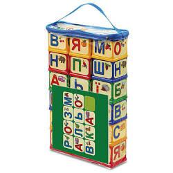 """Кубики """"Абетка з розмальовкою"""", 18 шт"""