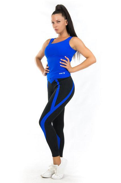 Женская одежда для спорта (42-44; 44-46; 46-48) (синий) одежда для йоги и фитнеса из бифлекса