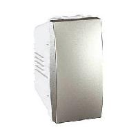 Выключатель 1-клавишный, алюминий, 1 мод., MGU3.101.30