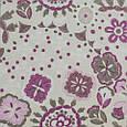Декоративная ткань для штор, рисунок розовый, фото 2