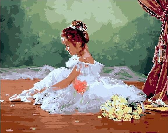 """Картина по номерам 50х40 """"Маленькая прима-балерина"""""""