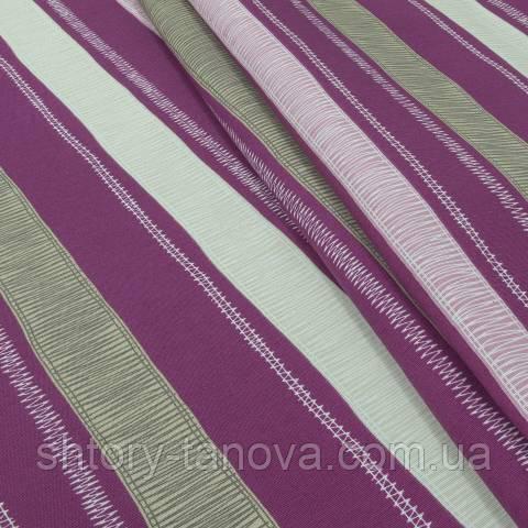Декоративна тканина для штор, смужки филеотовый