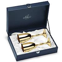 Бокалы для шампанского из металла Golden 2 шт Chinelli