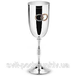 Свадебные бокалы для шампанского металлические Silver 2 шт Chinelli
