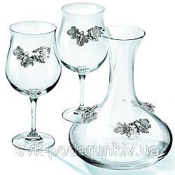 Графин для вина и 2 винных бокала Chinelli