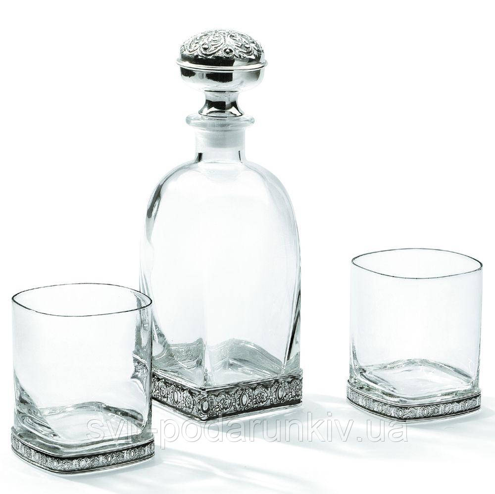 Набор для виски штоф и 2 бокала Chinelli