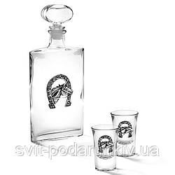 Рюмки для водки 2 шт и штоф Подкова Chinelli