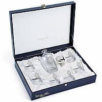 Набор бокалов для виски 6 шт и штоф silver