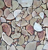 Деревянная  панель из спилов (Мозаика)