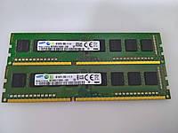 Оперативная память SAMSUNG 8Gb(KIT 2x4GB) DDR3 PC3-12800 б/у