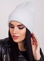 Белая шапочка с отворотом Peri 2 F Uni Lux с люрексом