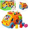 Музыкальная развивающая игрушка сортер Автобус 988: фигурки животных (музыка + свет)