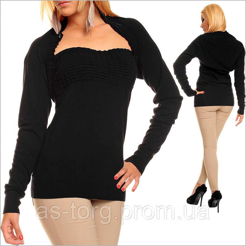 Женский черный топ с болеро, низкие цены на одежду  продажа, цена в ... f837473297d