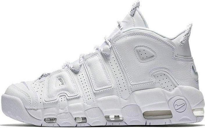 """Женские кроссовки в стиле Nike Air More Uptempo """"Triple White"""""""