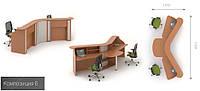 Готовая мебель для приемной офиса Модус 6