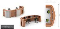 Готовая мебель для приемной офиса Модус 7