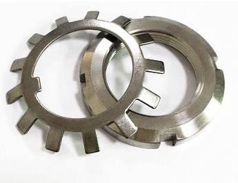 Гайка М25 (КМ 5) стальная круглая шлицевая DIN 981, фото 2