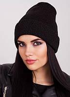 Черная шапочка с отворотом и разноцветным люрексом Peri 2 F Uni Lux