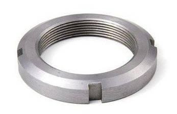 Гайка М45 (КМ 9) кругла сталева шлицевая DIN 981, фото 2