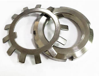 Гайка М50 (КМ 10) стальная круглая шлицевая DIN 981, фото 2