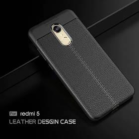 TPU чехол Leather grain для Xiaomi redmi 5 black
